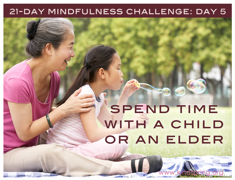 5: Spend Time With a Child or an Elder